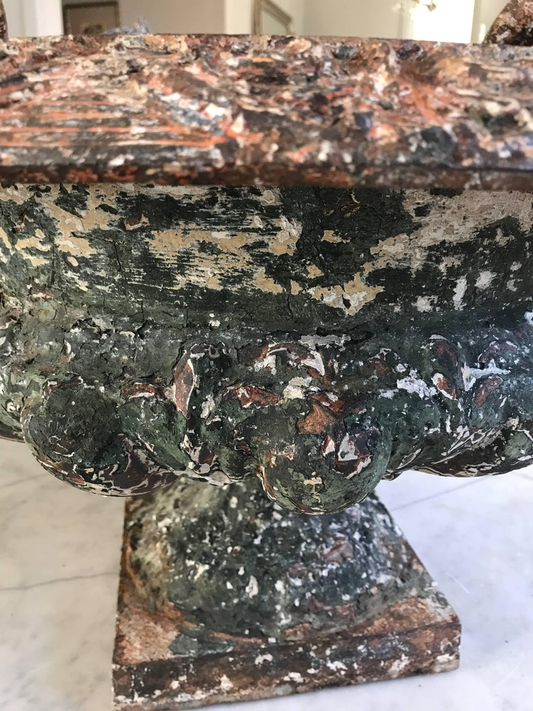 Antique French Cast Iron Urns For Sale 1