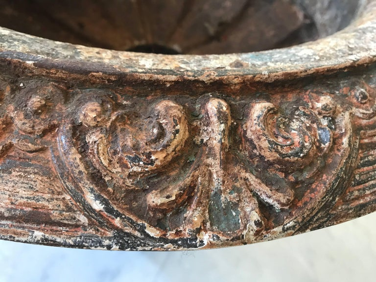 Antique French Cast Iron Urns For Sale 5