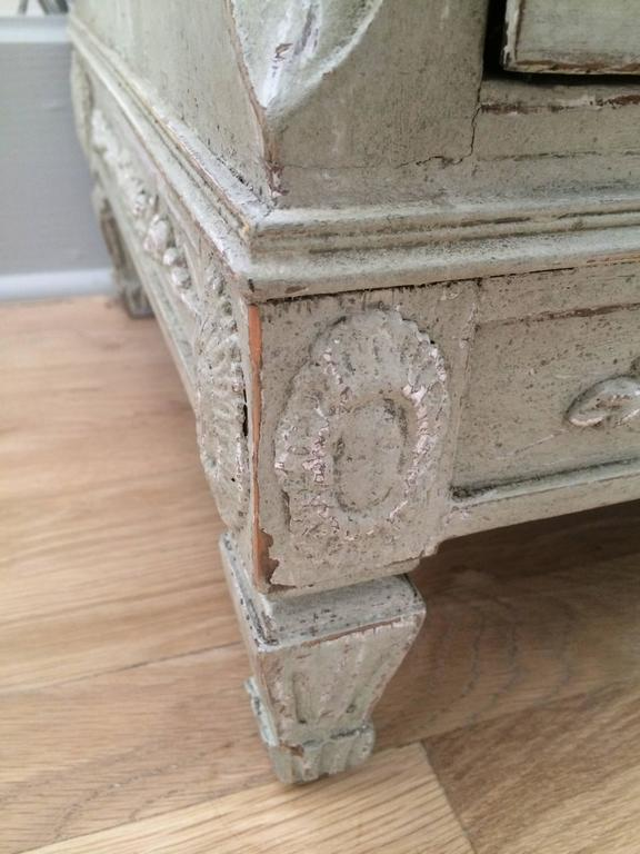French 18th Century Period Swedish Painted Chest For Sale