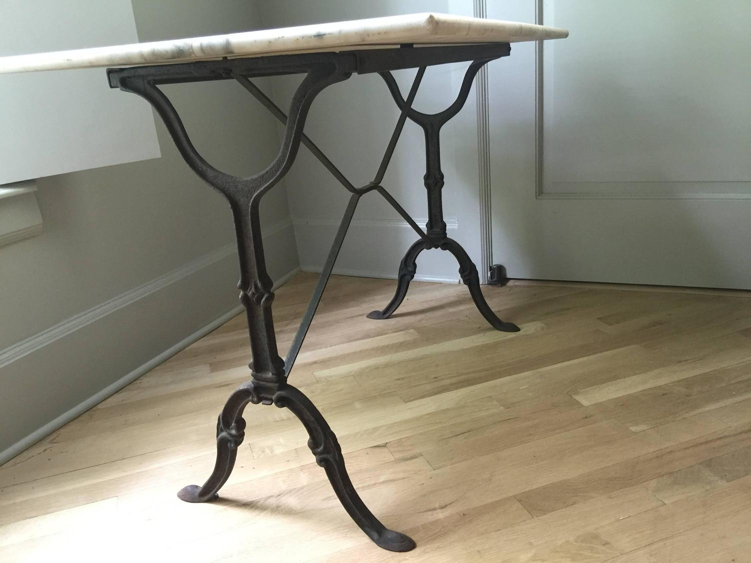 Vintage French Marble Bistro Table At 1stdibs
