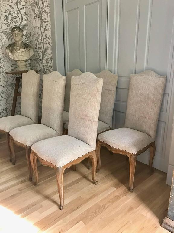 Set of Six French Dining Chairs 10