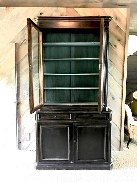 19th century antique Louis Philippe period painted bookcases, circa 1840.