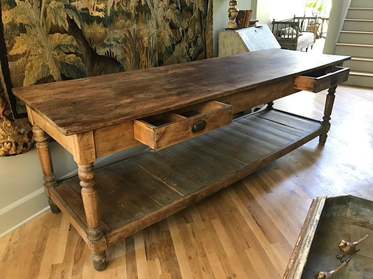 Antique French Oak Draper Table 2