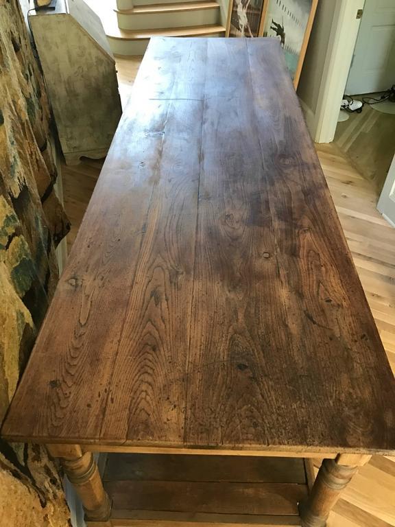 Antique French Oak Draper Table 3