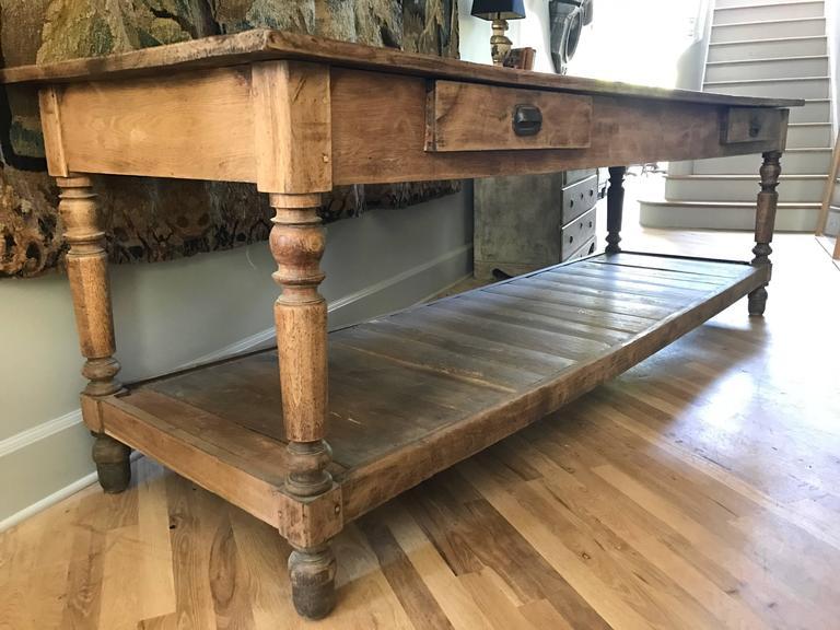 Antique French Oak Draper Table 4