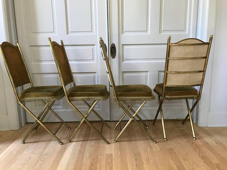 Chartreuse Velvet French Opera Chairs 8