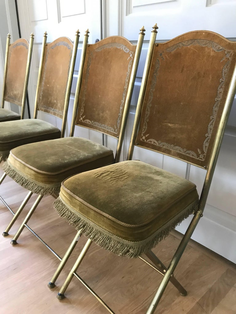 Chartreuse Velvet French Opera Chairs 9