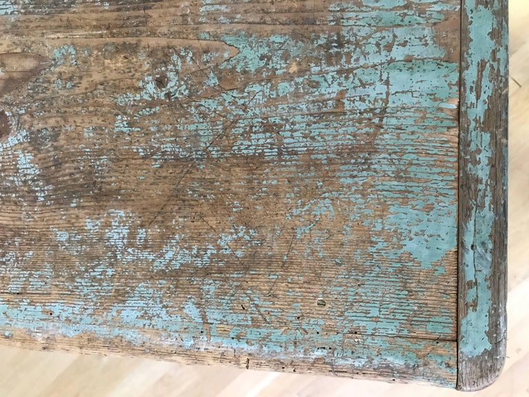 Blue Painted Swedish Chest 7
