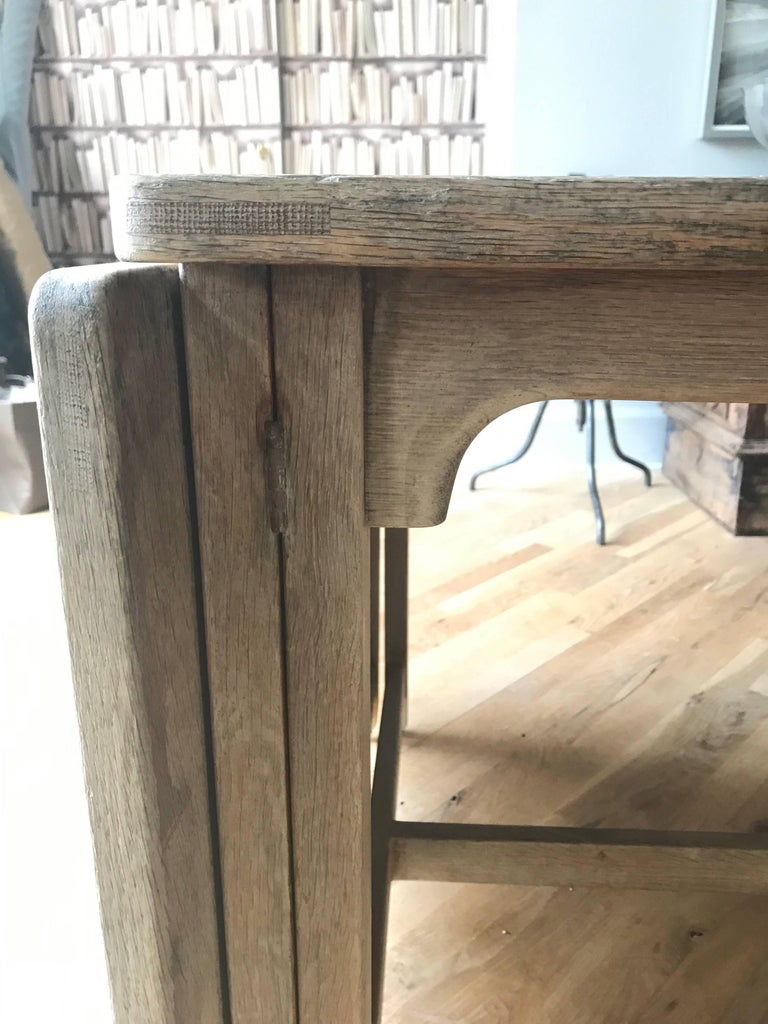 19th Century Swedish Bleached Oak Dining Table For Sale