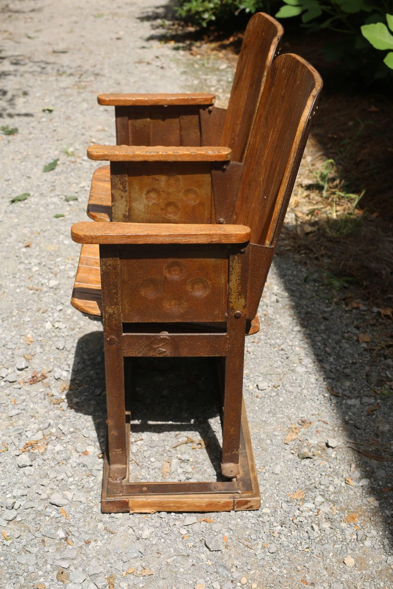 Antique French Theater Seats In Good Condition For Sale In Nashville, TN