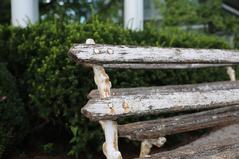 19th Century Pair of Antique Garden Benches For Sale