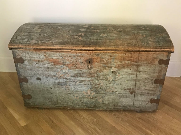 Antique Belgian Painted Chest, circa 1850 3