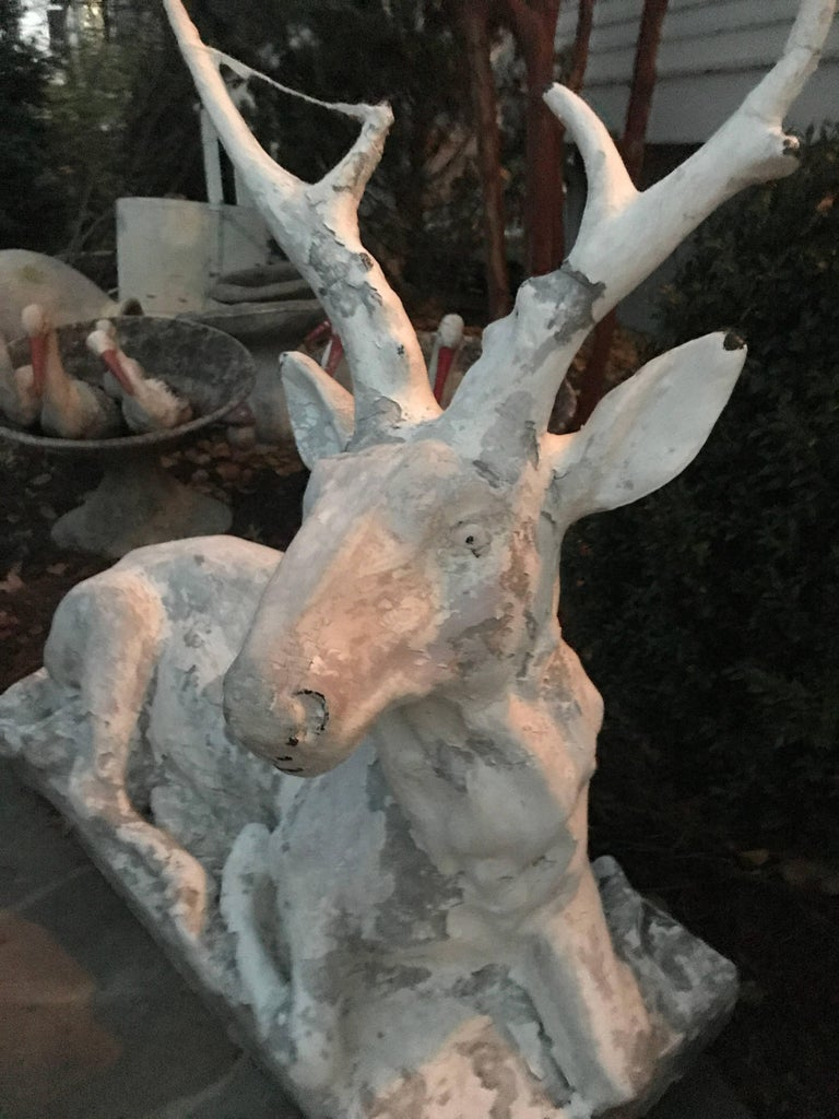 Cast Stone Garden Deer  For Sale 4