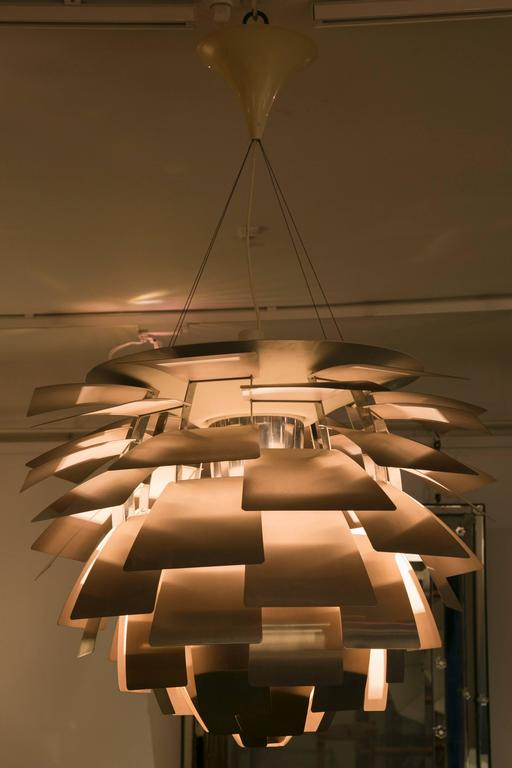 Brushed Large 'Artichoke' Ceiling Fixture by Poul Henningsen for Poulsen For Sale