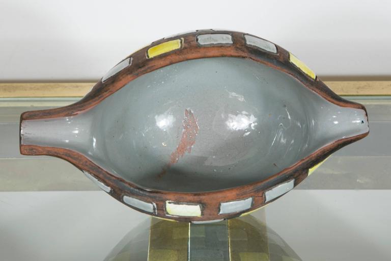 Glazed Ceramic Bowl by Raymor, Italy, 1970s For Sale 1