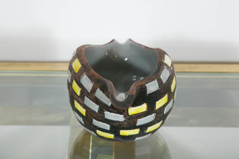 Glazed Ceramic Bowl by Raymor, Italy, 1970s For Sale 2