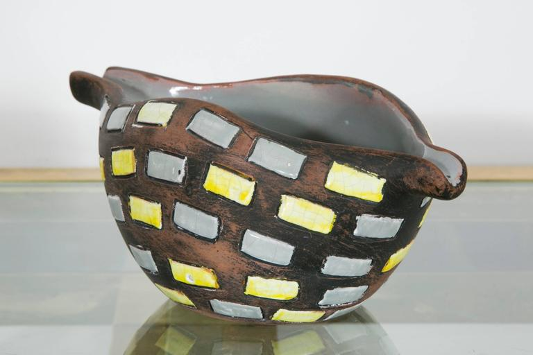 Glazed Ceramic Bowl by Raymor, Italy, 1970s In Excellent Condition For Sale In Paris, FR