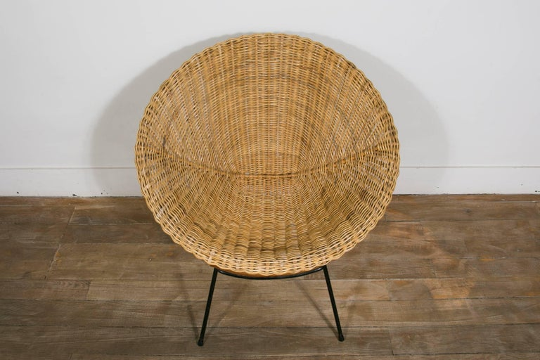 Rattan Set Of Scoop Chairs And Table Style Of Janine