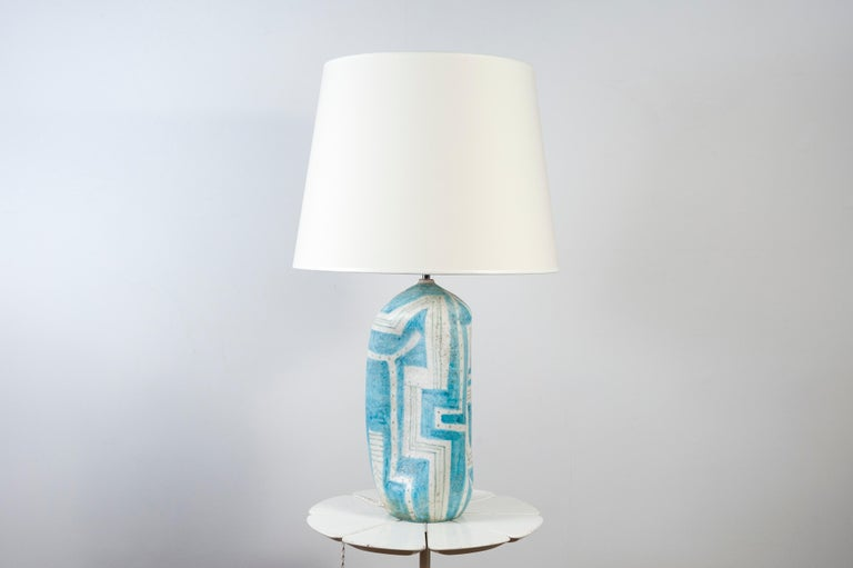 Mid-Century Modern Ceramic Lamp by Guido Gambone, Italy For Sale