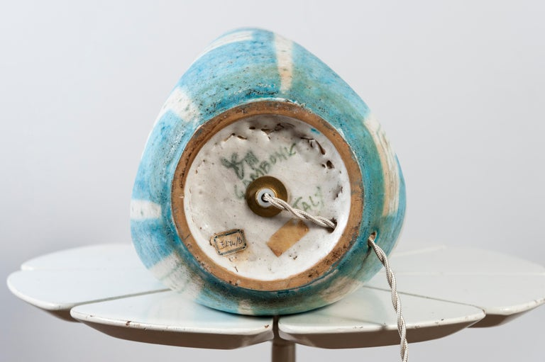 Ceramic Lamp by Guido Gambone, Italy For Sale 3