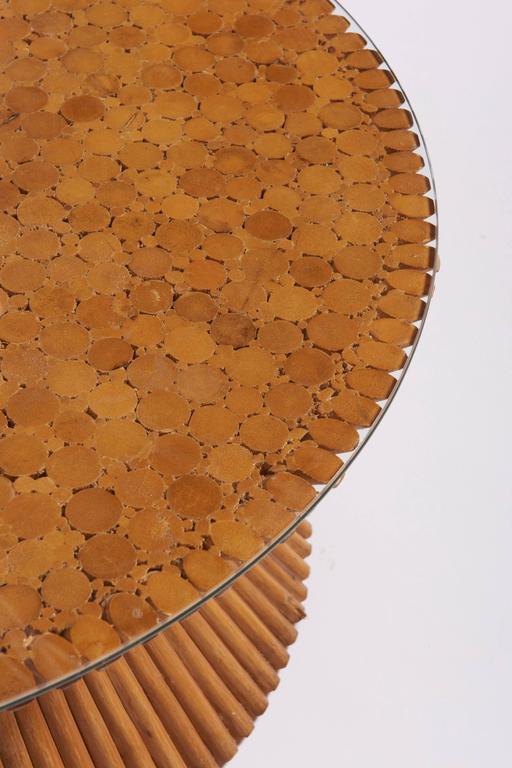 mcguire wheat sheaf bamboo rattan coffee table 3
