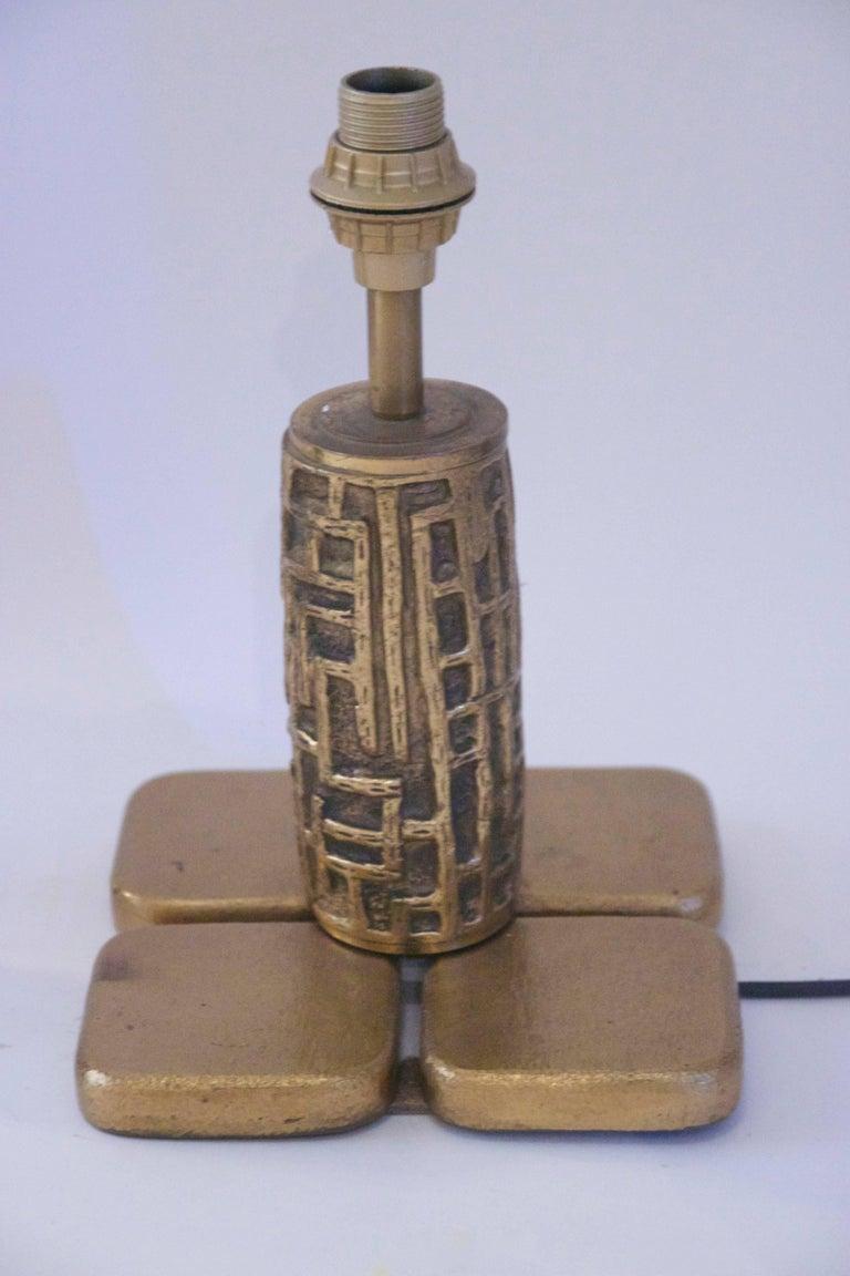 Italian Luciano Frigerio, Pair of Table Lamps, Bronze, Frigerio di Desio Production For Sale