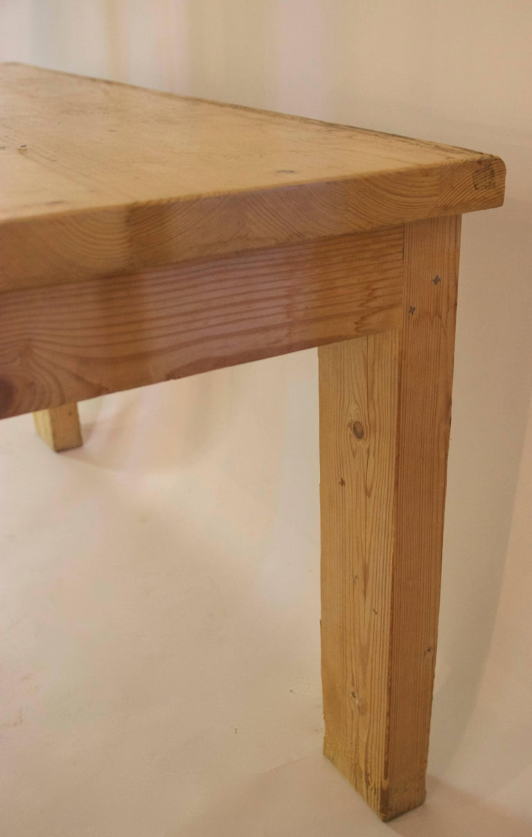 French Jean Prouvé with Guy Rey-Millet, Dining Room Table, Wood, Refuge de la Vanoise For Sale