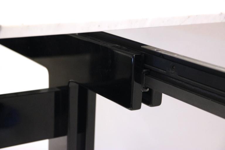 Carrara Marble Ignazio Gardella, Extendable Dining Table, Misuraemme Manufacturer, 1980 For Sale