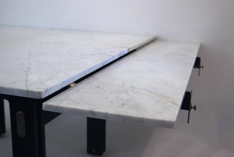 Ignazio Gardella, Extendable Dining Table, Misuraemme Manufacturer, 1980 For Sale 1