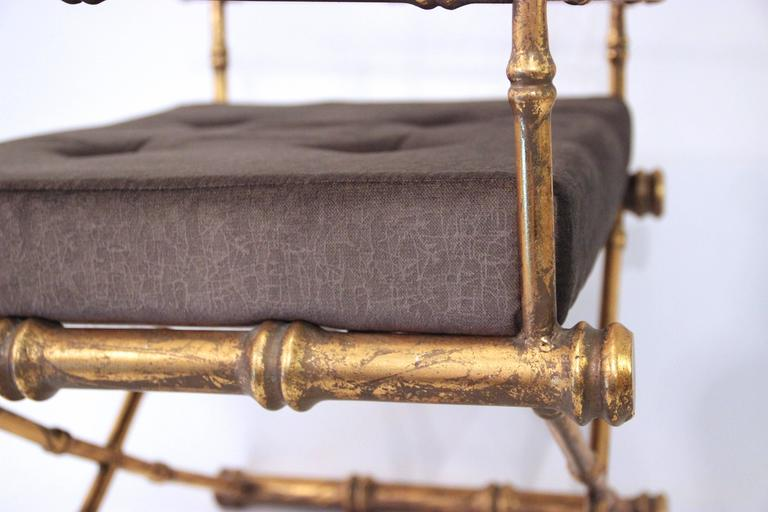 Pair of Armchairs, Antique Style, Gilded Iron, circa 1970, France 6