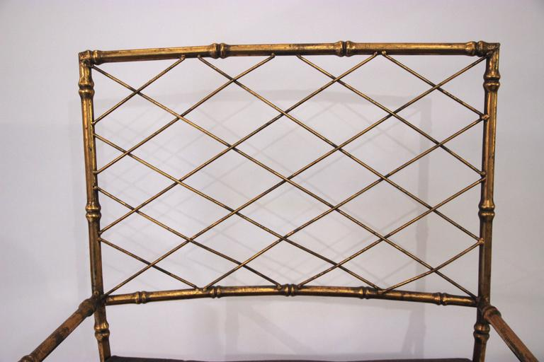 Pair of Armchairs, Antique Style, Gilded Iron, circa 1970, France 4