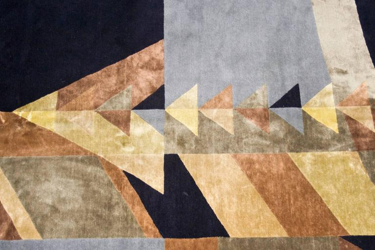 After frank lloyd wright may triangles rug bsb edition circa 2000 spain for sale at 1stdibs - Frank lloyd wright area rugs ...