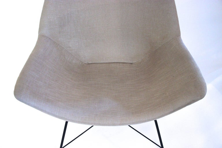 Modern Augusto Bozzi, 1924-1982, Pair of Kosmos Armchairs, circa 1956, Italy For Sale