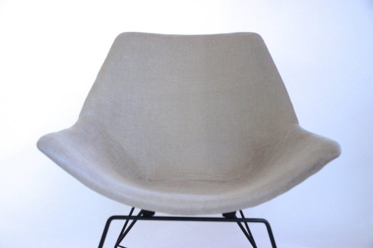 Italian Augusto Bozzi, 1924-1982, Pair of Kosmos Armchairs, circa 1956, Italy For Sale