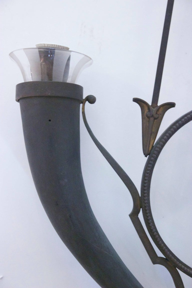 Gio Ponti, Luster, Metal and Glass, circa 1929, Italy For Sale 1