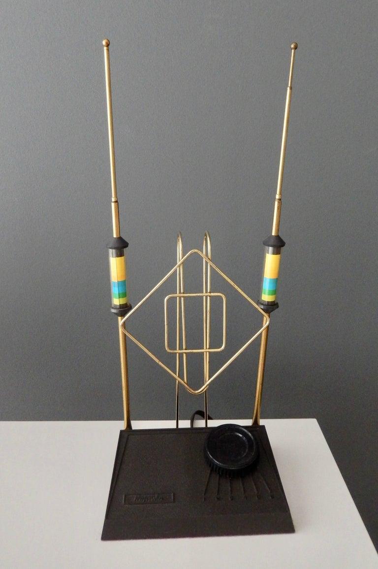 """Mid-Century Modern """"Rabbit Ears"""" TV Antenna/Space Age 2"""