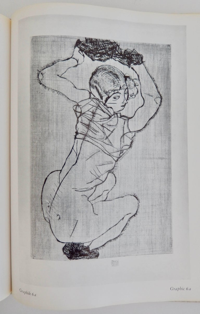 An important reference book, in very good condition, on the graphic work of the Austrian Expressionist artist Egon Schiele (1890-1918). A first edition, hardcover book that includes 66 black and white illustrations. Dustjacket in good condition with