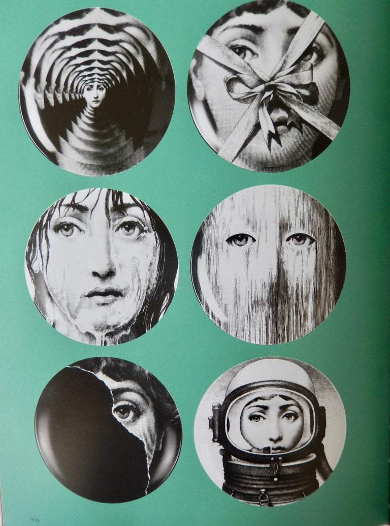 Porcelain Fornasetti Face Plate, Tema e Variazioni, N116 For Sale