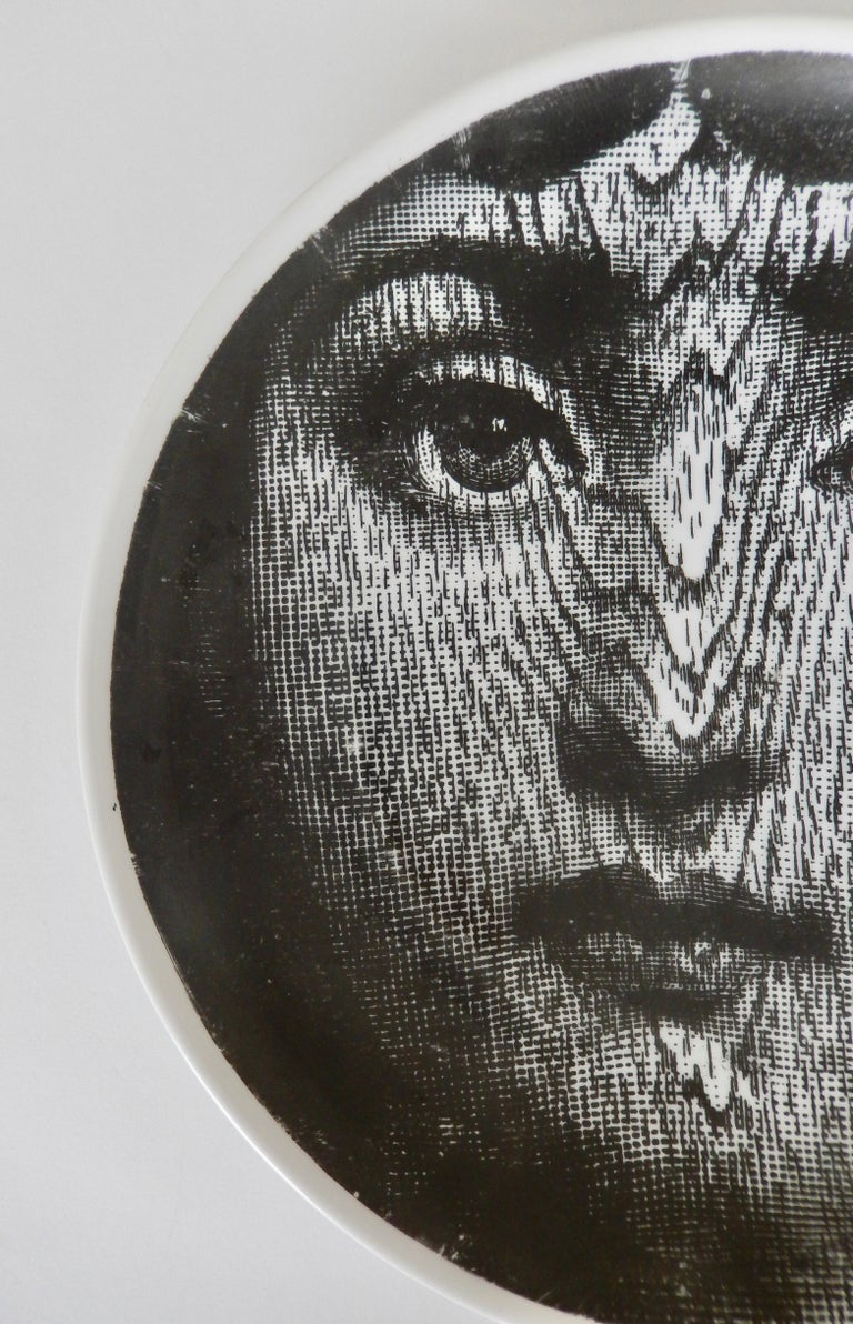 Modern Midcentury Fornasetti Face Plate, Tema e Variazione N90 For Sale
