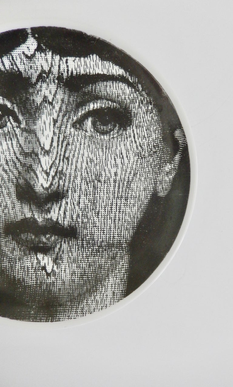 Italian Midcentury Fornasetti Face Plate, Tema e Variazione N90 For Sale