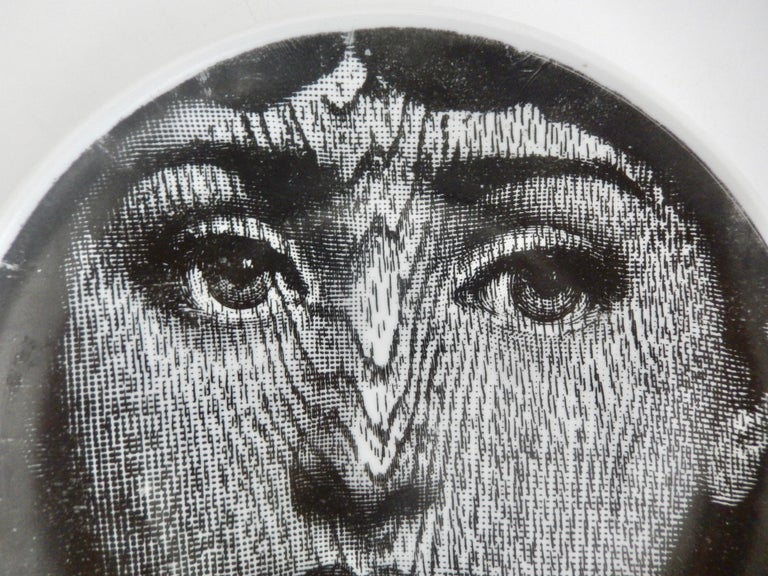 Mid-20th Century Midcentury Fornasetti Face Plate, Tema e Variazione N90 For Sale