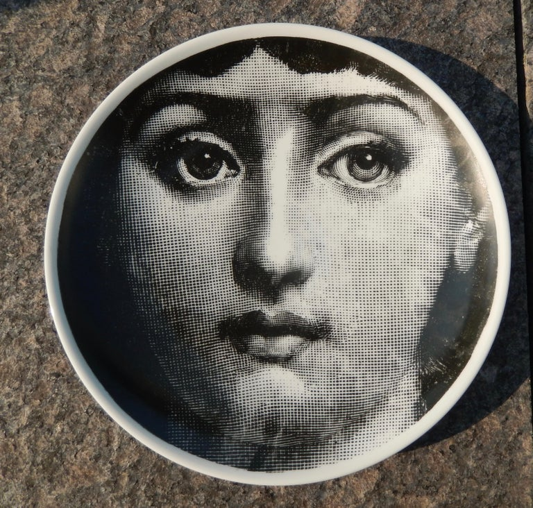Mid-Century Modern Midcentury Fornasetti Iconic Face Plate, Tema e Variazoni N1 For Sale