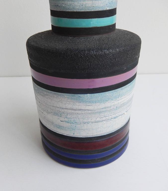 1950s Ettore Sottsass Attributed Ceramic Cambogia Vase for Bitossi / Raymor 5