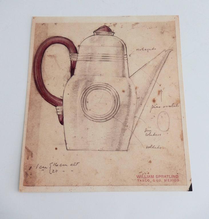 Modern Special Edition Portfolio of Original Sketches by William Spratling, 1987 For Sale