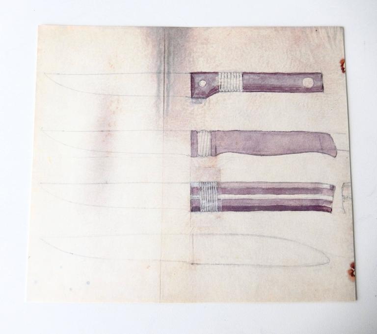 Paper Special Edition Portfolio of Original Sketches by William Spratling, 1987 For Sale