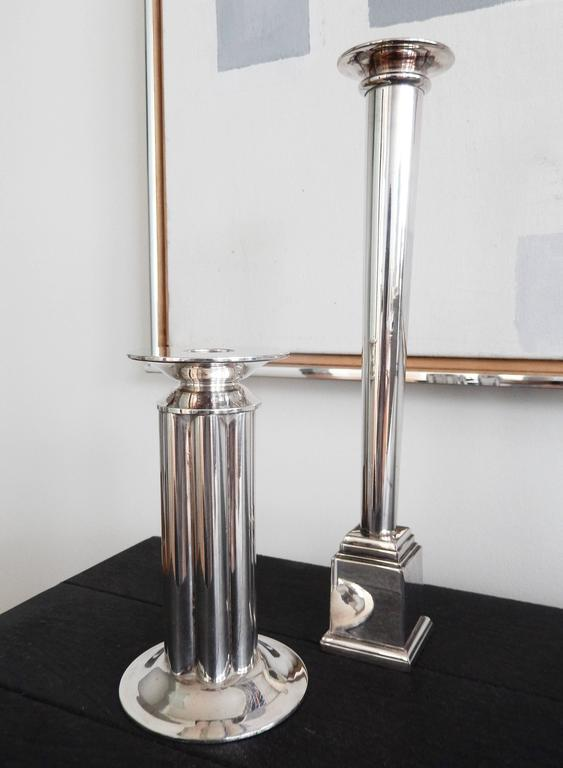 Postmodern Candlesticks Designed by Robert A. M. Stern for Swid Powell, 1980s In Good Condition For Sale In Winnetka, IL