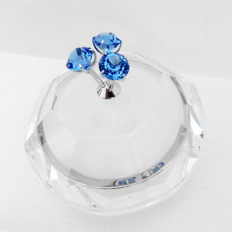 Modern 1990s Andree Putman for Swarovski Crystal Covered Box For Sale