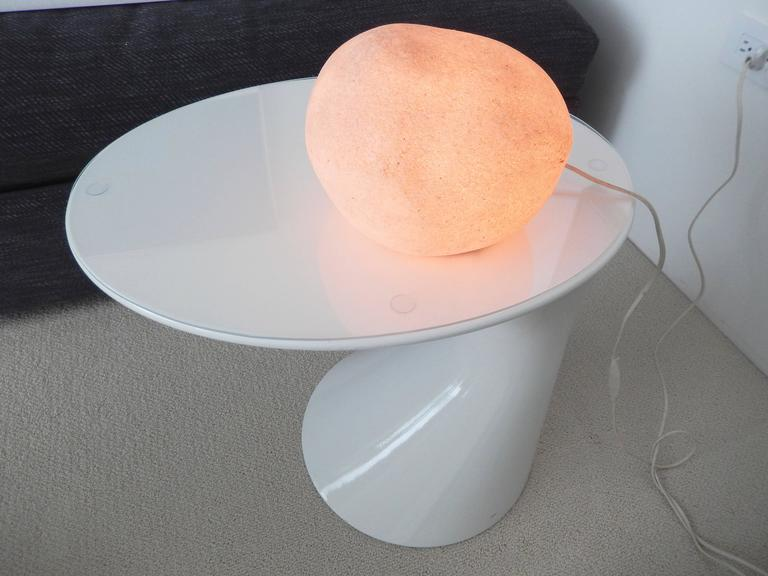 1970s Andre Cazenave Moon Rock Lamp for Atelier A In Good Condition For Sale In Winnetka, IL