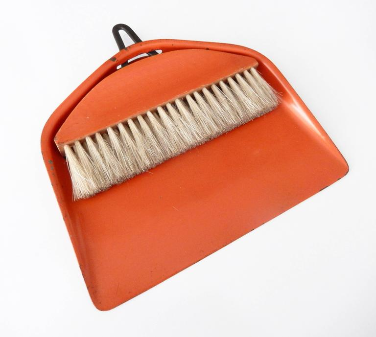 German Bauhaus/Marianne Brandt Modernist Crumb Brush and Tray, circa 1929 For Sale
