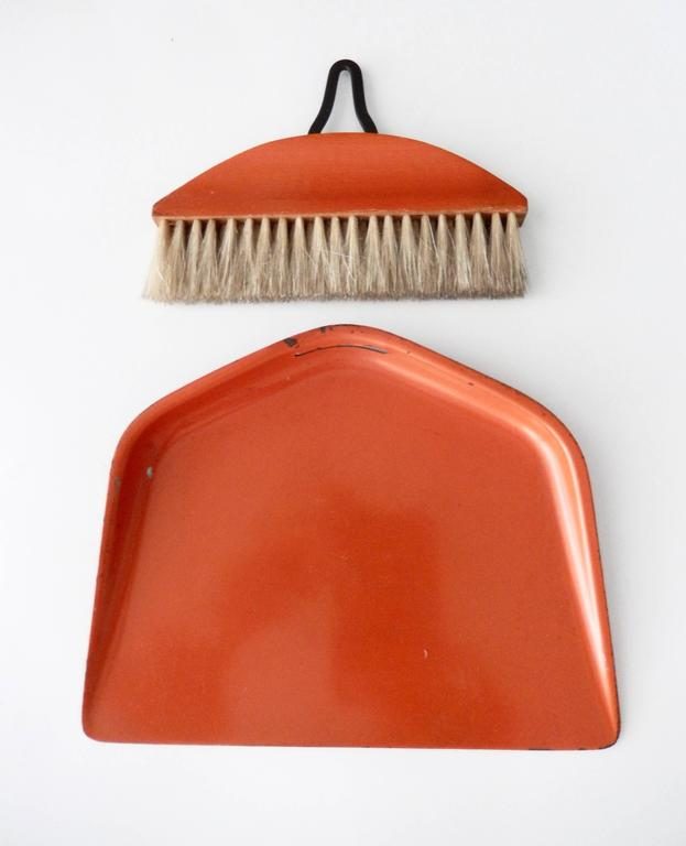 Mid-20th Century Bauhaus/Marianne Brandt Modernist Crumb Brush and Tray, circa 1929 For Sale